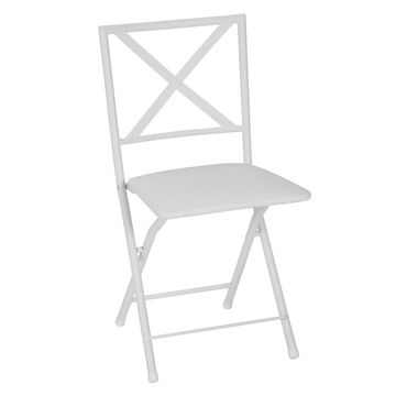 COSCO Metal Folding Dining Chair 4-piece Set