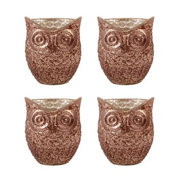 Witton Antique Brown Four-Inch Candle Holder, Set of Four