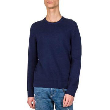 Men's Wool-Blend Shoulder-Zip Sweater