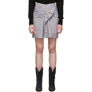 Isabel Marant Etoile Pink and Black Linen Ines Skirt