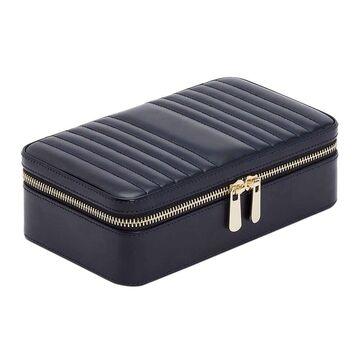 Wolf - Maria Zip Travel Jewelry Case - Navy - Medium
