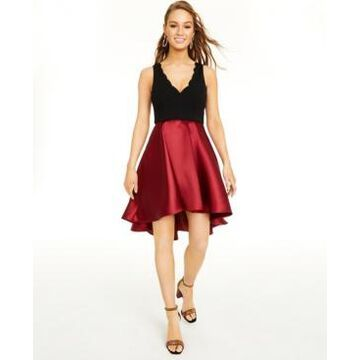 Speechless Juniors' Colorblocked Fit & Flare Dress