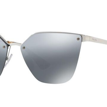 Prada Woman PR 68TS - Frame color: Silver, Lens color: Grey-Black, Size 63-15/140