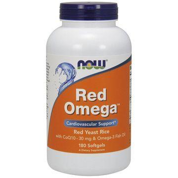 Red Omega Now Foods 180 Softgel