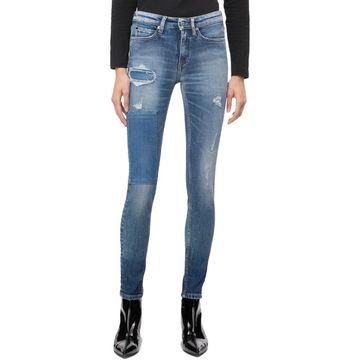 Calvin Klein Jeans Womens Ankle Jeans Denim Mid-Rise