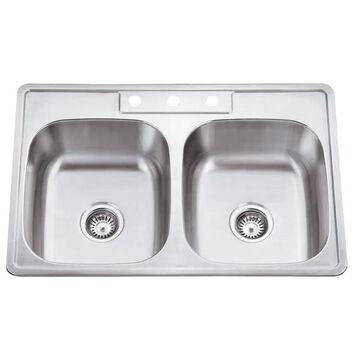 Hardware Resources 20 Gauge Stainless Steel Drop In Sink