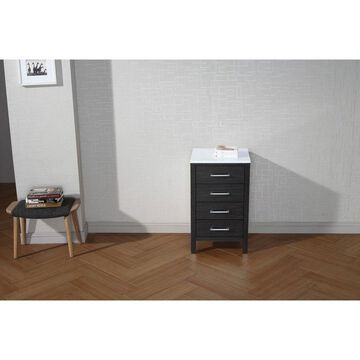Virtu USA Dior 18-inch Side Cabinet with Top Options