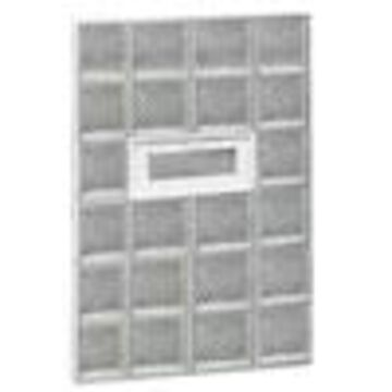 REDI2SET Diamond Glass Pattern Frameless Replacement Glass Block Window (Rough Opening: 28-in x 48-in; Actual: 27-in x 46.5-in)