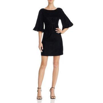 Ella Moss Womens Velvet Special Occasion Mini Dress