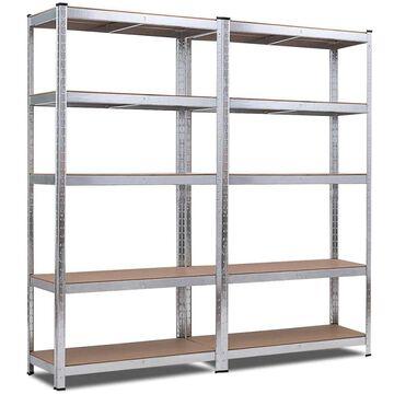Goplus 2 PCS 72-Inch 5-Tier Storage Rack Adjustable Garage Shelf Shelving Unit | TL35158