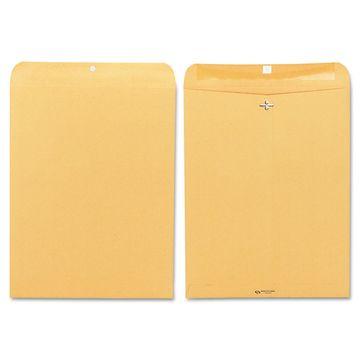 Quality Park Clasp Envelope 12 x 15 1/2 32lb Brown Kraft 100/Box 37810
