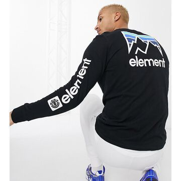 Element Joint long sleeve top in black Exclusive at ASOS