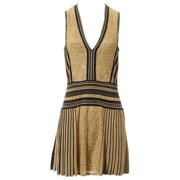 Roberto Cavalli Gold Synthetic Dresses
