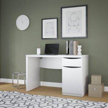Bush Furniture Avalon Collection Pure White Computer Desk