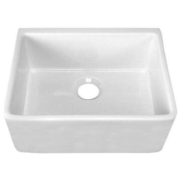 Barclay FS24 24-Inch Fire Clay Farmer Sink, White