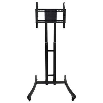Luxor Durable FP1000 Height Adjustable Rolling TV Stand - Holds upto 70