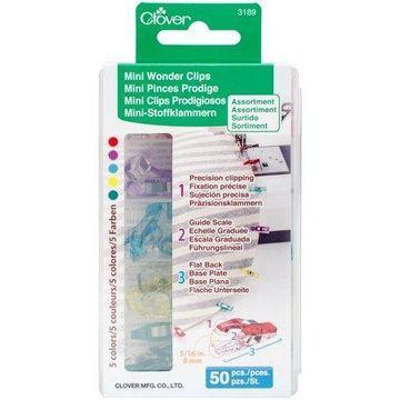 Clover Mini Wonder Clips Assorted Colors 50/Pkg