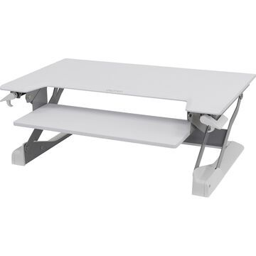 Ergotron WorkFit-TL, Sit-Stand Desktop Workstation (white) - Rectangle Top - 37.50