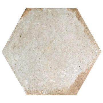 SomerTile 11x12.625-inch Anticato Bianco Hex Porcelain Floor and Wall Tile (15 tiles/11.42 sqft.)