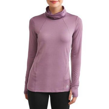 RBX Women's Active Brushed Cowl Neck W/Lazer Cut