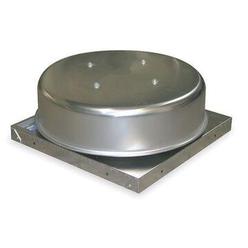 Gravity Roof Vent,19 In Sq Base,199 CFM