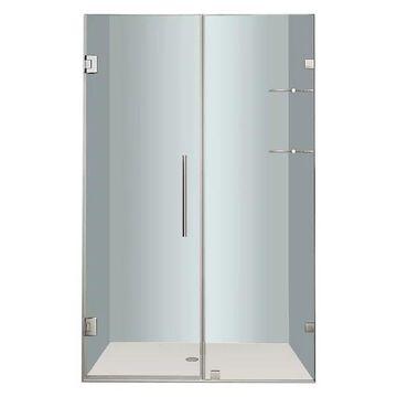 Aston Nautis GS Frameless Hinged Shower Door, Chrome, 44
