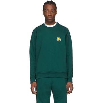 Casablanca Green Tennis Club Orange Sweatshirt