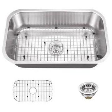 """Miseno MSS3018C 30"""" Undermount Single Basin Stainless Steel Kitchen - 16 Gauge Stainless Steel"""