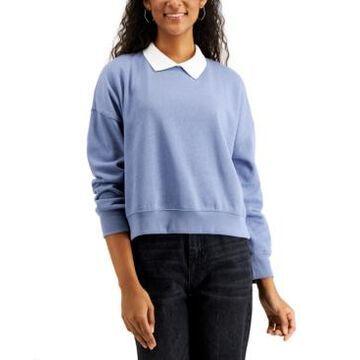 Hippie Rose Juniors' Collared Sweatshirt