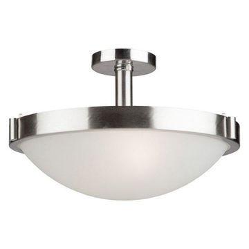 Boise 3-Light Brushed Nickel Semi Flush