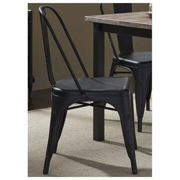 Liberty Furniture Vintage Series Bow Back Side Chair, Black