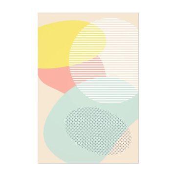 Noir Gallery Pastel Abstract Organic Shapes Unframed Art Print/Poster