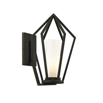 Troy Lighting Whitley Heights 15-in H Textured Black Medium Base (E-26) Outdoor Wall Light | B6341