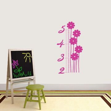 Flower Growth Chart Wall Decal