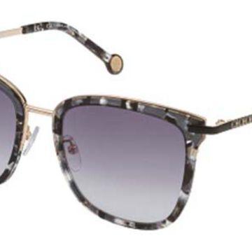 Carolina Herrera SHE122 0721 Men's Sunglasses Tortoise Size 52