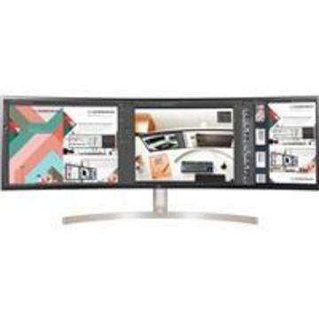 LG BL95C 49'' 32:9 Curved UltraWide Dual QHD IPS Monitor with Dual Controls, USB Type-C, Built-In-Speakers, 5120x1440, White