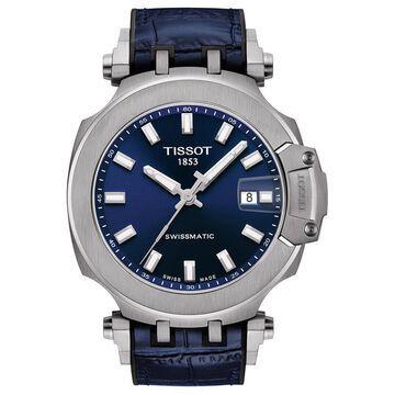 Men's Swiss Automatic T-Race Swissmatic Blue Rubber Strap Watch 49mm