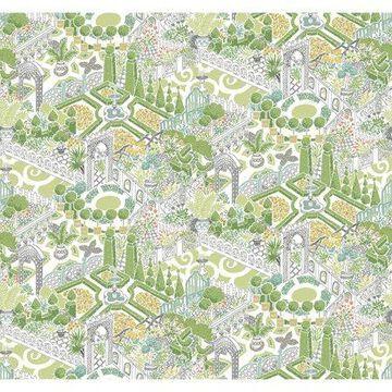 Waverly How Does Your Garden Wallpaper - Sherbert