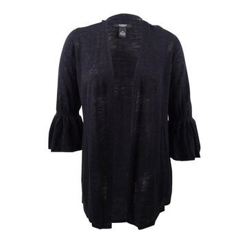 Alfani Women's Plus Size Open-Front Cardigan - Deep Black