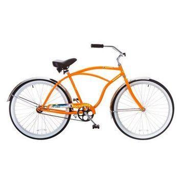 TITAN Docksider Mens Beach Cruiser Single-Speed Bicycle, 18