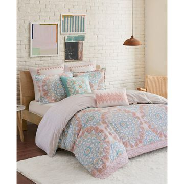 Design Simona King 3 Piece Reversible Cotton Duvet Cover Set