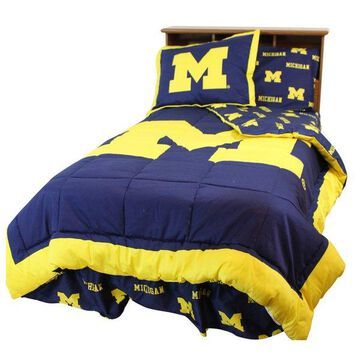 Michigan Wolverines Bed in a Bag King, With Team Colored Sheets