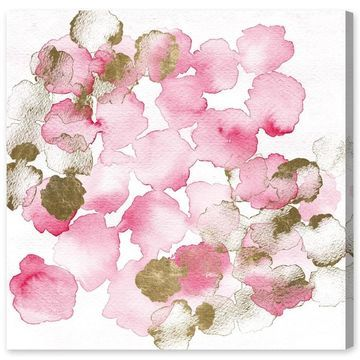 Oliver Gal 'Pretty In Pink Bouquet' Floral and Botanical Wall Art Canvas Print - Pink, Gold