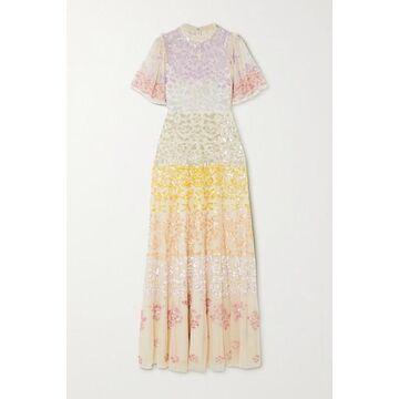 Needle & Thread - Jasmine Hemsley Chakra Sequin-embellished Tulle Gown - Ecru