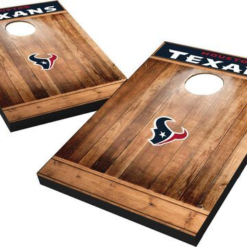 Wild Sports Houston Texans Brown Wood Tailgate Toss