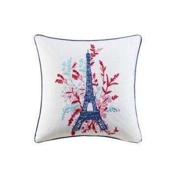 "Jla Home Eiffel Tower 20"" x 20"" Decorative Pillow"