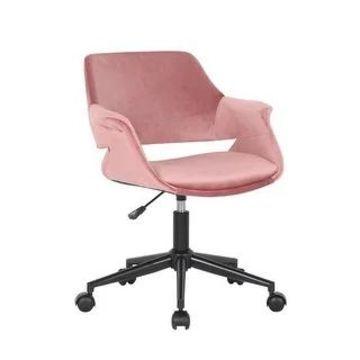 Porthos Home Rylee Swivel Office Chair, Velvet, Adjustable Height