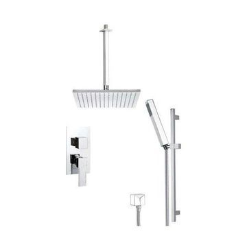 Nameeks SFR7507 Remer Double Handle Shower System Faucet, Chrome