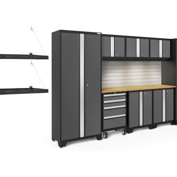 NewAge Products Bold Series 132-in W x 77.25-in H Charcoal Gray Steel Garage Storage System | 50363