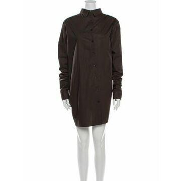 Mock Neck Mini Dress Brown